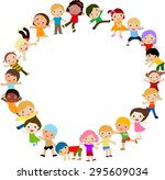 kids and frame | Shutterstock .eps vector #295609034