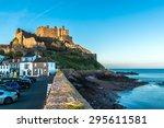 mont orgueil castle  gorey... | Shutterstock . vector #295611581
