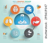 medical concept and healthy... | Shutterstock .eps vector #295619147