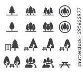 park icon set | Shutterstock .eps vector #295623977