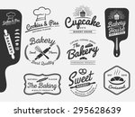 set of bakery and bread logo... | Shutterstock .eps vector #295628639