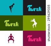 twerk and booty dance... | Shutterstock .eps vector #295629335