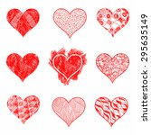 hand drawn sketch hearts for... | Shutterstock .eps vector #295635149