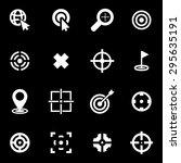 vector white target icon set. | Shutterstock .eps vector #295635191