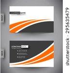 business card template  vector... | Shutterstock .eps vector #295635479