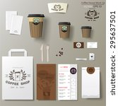coffee shop corporate branding... | Shutterstock .eps vector #295637501