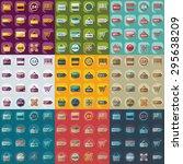 flat concept  set modern design ... | Shutterstock .eps vector #295638209