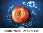 concept with apple and doodles...   Shutterstock . vector #295641155