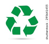 recycle sign on white... | Shutterstock .eps vector #295641455
