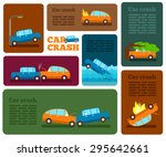car crash vector set. insurance ... | Shutterstock .eps vector #295642661