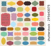 vector set of  vintage frames ... | Shutterstock .eps vector #295643075