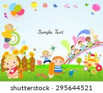 kids and frame | Shutterstock .eps vector #295644521