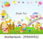 kids and frame | Shutterstock .eps vector #295644521