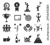 success icon set vector... | Shutterstock .eps vector #295645085