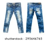 detail of nice blue jeans on... | Shutterstock . vector #295646765