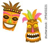 luau mask   Shutterstock .eps vector #295653221