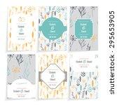 wedding card. floral design in... | Shutterstock .eps vector #295653905