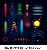space plasmas and laser beams.... | Shutterstock .eps vector #295660229