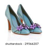 Blue High Heel Shoes