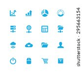 development  soft icons... | Shutterstock .eps vector #295663154