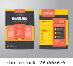 corporate brochure flyer design layout template in A4 size, with bleed, vector eps10. | Shutterstock vector #295663679