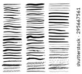 vector brush strokes set. large ... | Shutterstock .eps vector #295667561