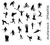 sport silhouettes   vector | Shutterstock .eps vector #29566936