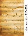 musical score written in pencil ... | Shutterstock . vector #2956778