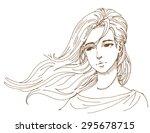 wind blow hair. | Shutterstock .eps vector #295678715