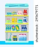 counter with detergents. vector ... | Shutterstock .eps vector #295679771