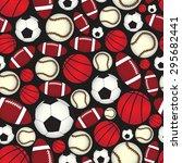 various sport balls seamless...   Shutterstock .eps vector #295682441