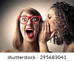 girls whispering secrets | Shutterstock . vector #295683041