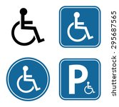disabled handicap icon set | Shutterstock .eps vector #295687565