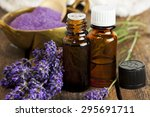 bottles of aromatherapy essence ... | Shutterstock . vector #295691711
