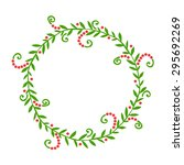 hand drawn abstract wreath ... | Shutterstock .eps vector #295692269