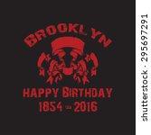 brooklyn  vector illustration | Shutterstock .eps vector #295697291
