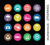 delivery icons universal set... | Shutterstock .eps vector #295698401