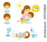 heatstroke ambulance first aid  | Shutterstock .eps vector #295704869