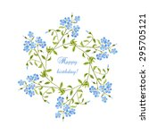 watercolor birthday greeting... | Shutterstock .eps vector #295705121
