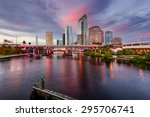 tampa  florida  usa downtown... | Shutterstock . vector #295706741