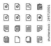 paper icon  document icon ... | Shutterstock .eps vector #295715501