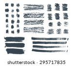 pencil and brush strokes....   Shutterstock .eps vector #295717835