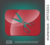 icon scissors.  sewing and... | Shutterstock .eps vector #295723211