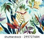Seamless Tropical Flower  Plant ...
