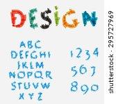 abstract alphabet. creative... | Shutterstock .eps vector #295727969