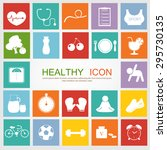set of healthy icon | Shutterstock .eps vector #295730135