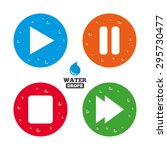water drops on button. player...