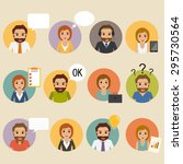 set of business people business ... | Shutterstock .eps vector #295730564