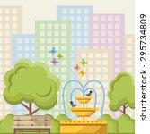 City Park Flat Illustration...
