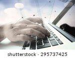 double exposure of businessman...   Shutterstock . vector #295737425